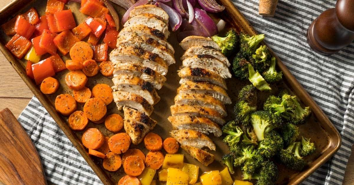 Balsamic Chicken Sheet Pan Meal Featured Image