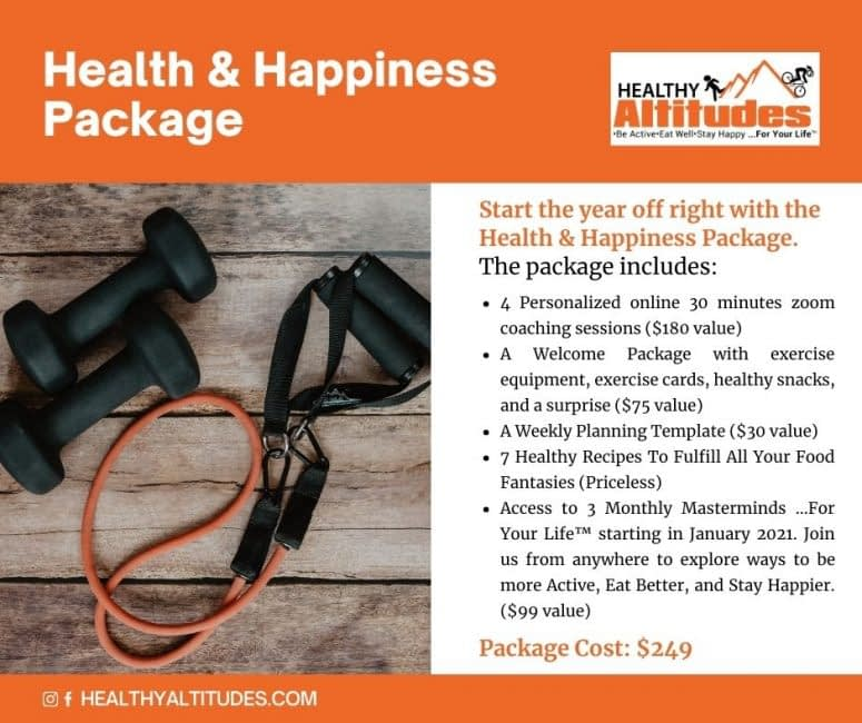 Health and Happiness Package from Healthy Altitudes