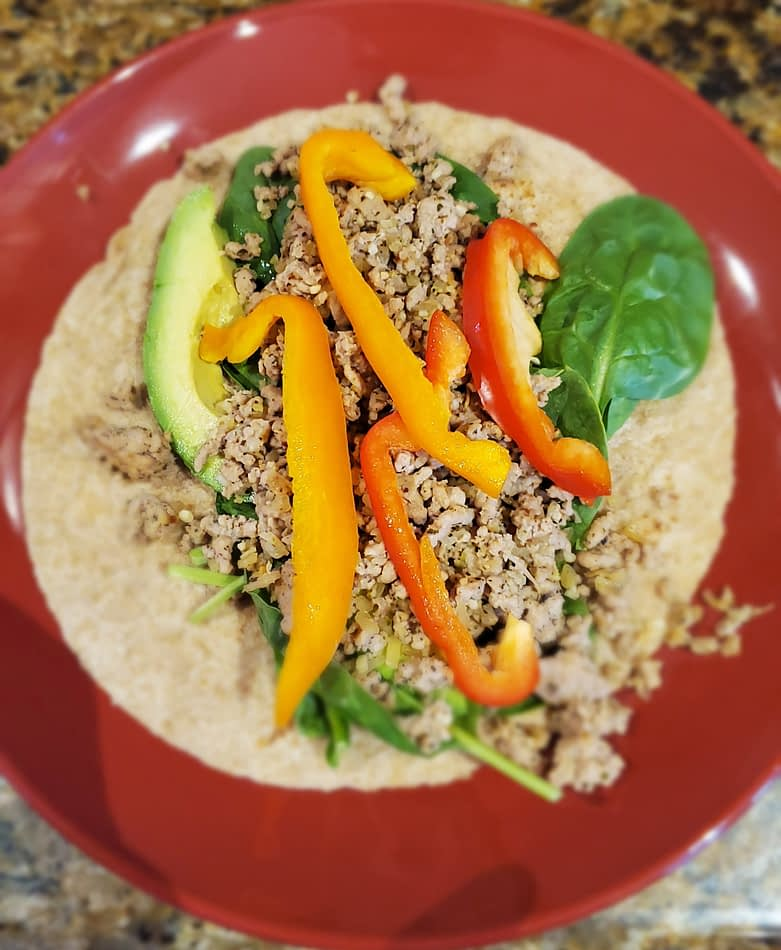 Easy and Healthy Turkey or Chicken Taco Wraps