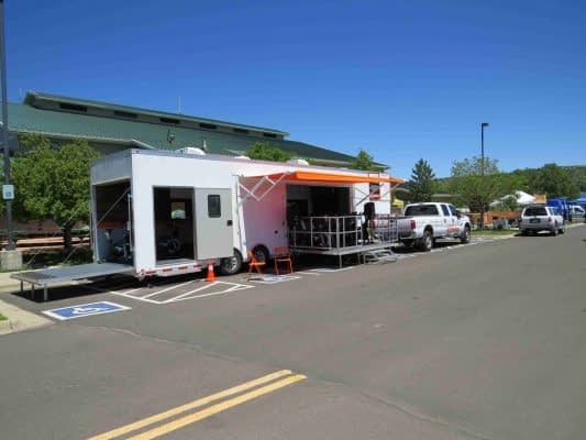 Total Trailer Open with Back Stage and Side Stage